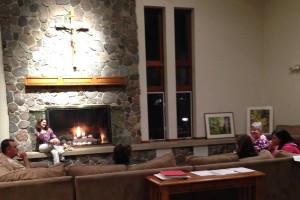 CWG fireplace 1st night